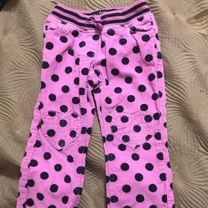 Mini Borden purple polka dot corduroy